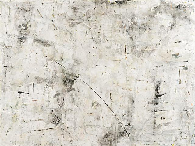 Claudine Marzik, Limestone walls 2012, Synthetic polymer paint on canvas.
