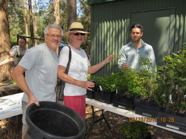 Redland residents Jenny & Steve Anthony picking up a free tree