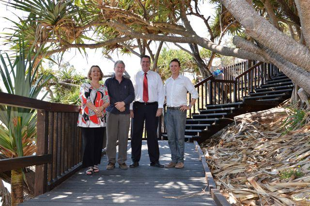 From left, Ms Christine Briggs, Committee Member, Logan and Redlands RegionalDevelopment Australia; Redland City Deputy Mayor Alan Beard; Queensland Senator Mark Furner; and Redland City Division 2 Cr Craig Ogilvie.