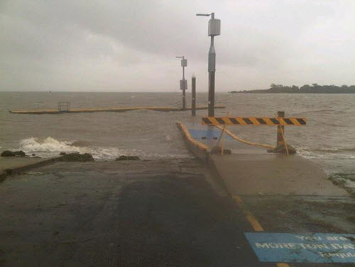 The pontoon at Victoria Point broke away during the Australia Day weekend severe weather event