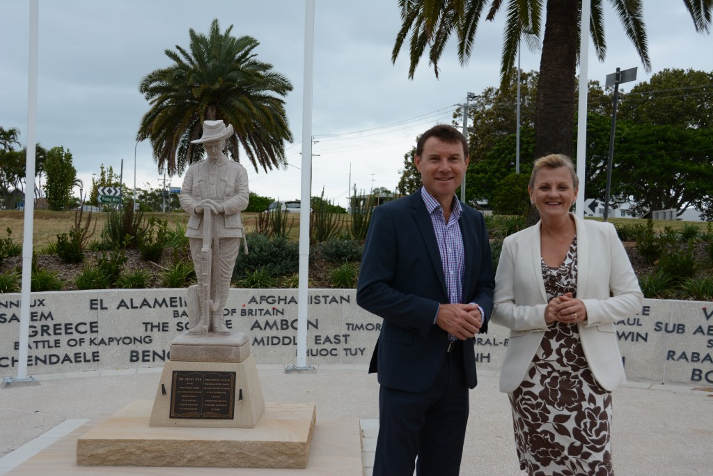 ANZAC Centenary Park Mayor and Andrew Laming