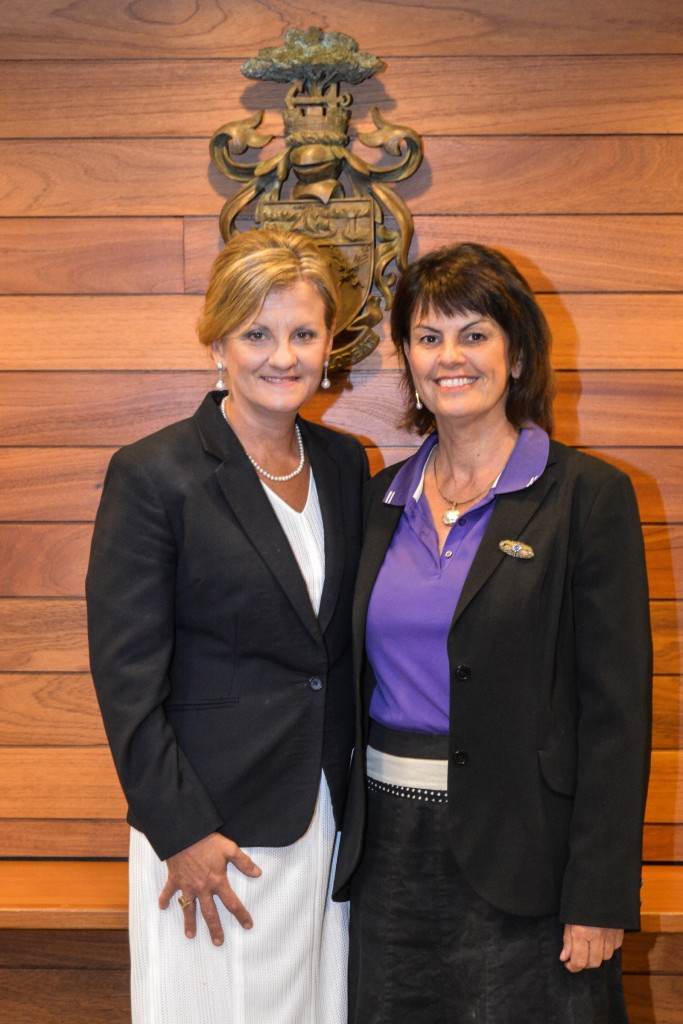 Mayor Cr Karen Williams (l) and Deputy Mayor Cr Wendy Boglary (r)