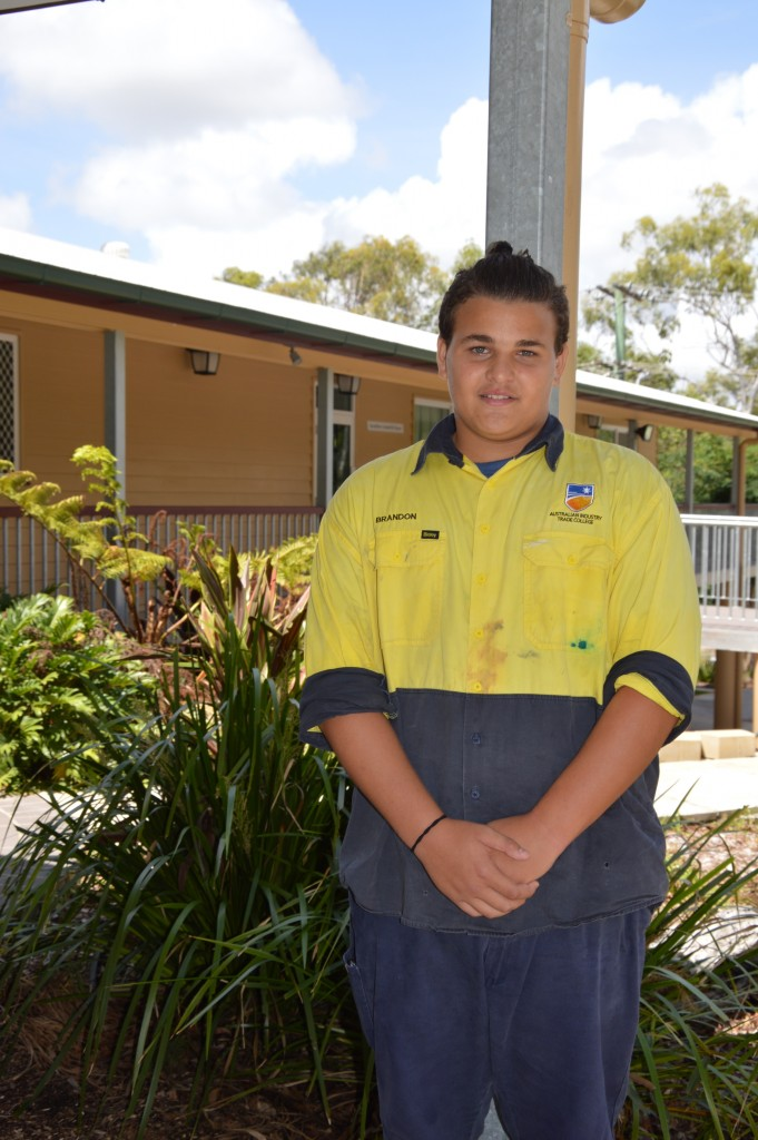Alexandra Hills teenager Brandon Cunningham is training to become an automotive mechanic at Australian Industry Trade College after being inspired through Project Booyah.