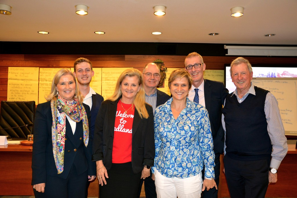 Redland City Council's Economic Development Advisory Board is getting down to the business. The six-member board (pictured back from left) Jordan Duffy, Dr John O'Donnell, Jerry Harris, Terry Morris, (front) Catherine O'Sullivan and Samantha Kennedy held their first board meeting on Thursday 23 June and caught up with Redland City Mayor Karen Williams (front centre).