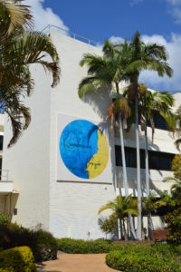 The artwork displayed on the Council's administration building